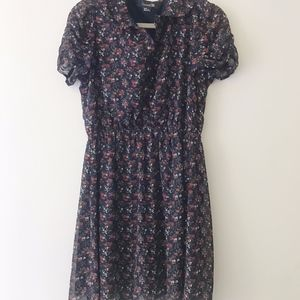 Forever 21 Chiffon Floral Dress